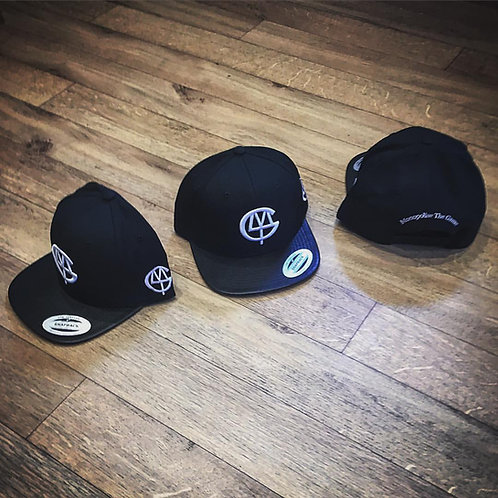 DLMTG snap back with leather peak