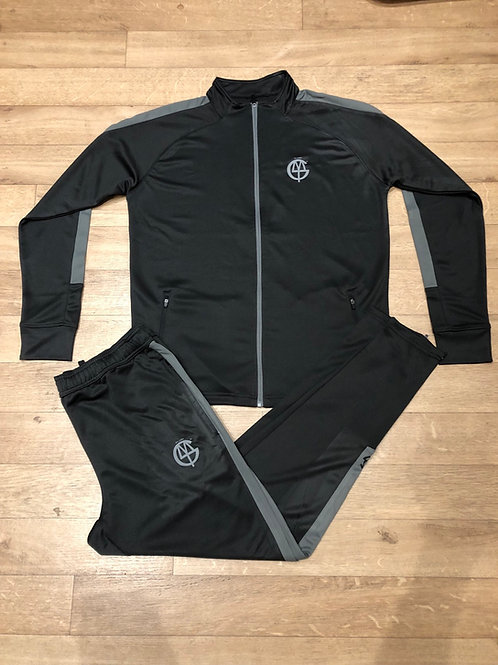 dlmtgclothing adult Black/grey polyester tracksuit