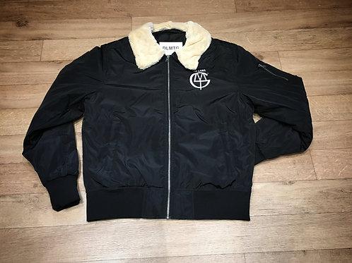 DLMTG aviator bomber jacket (black)