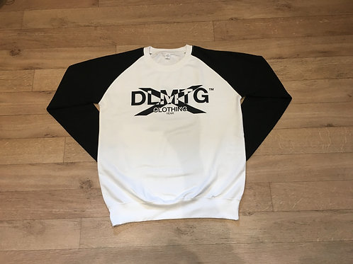 Two tone DLMTGCLOTHING DLMTGYEARX logo sweater
