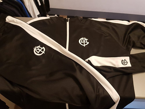 dlmtgclothing adult black/white polyester tracksuit