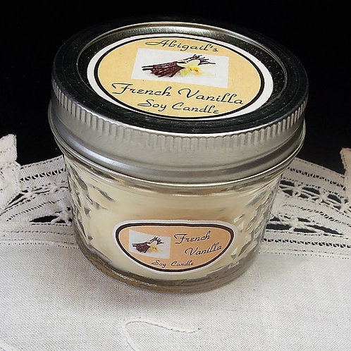French Vanilla Small Jelly Jar Soy Candle