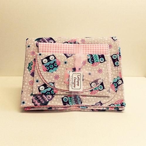 Pink Owls Blanket Set