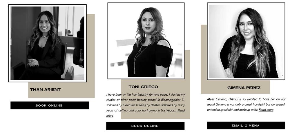 D'Amici Salon & Style team
