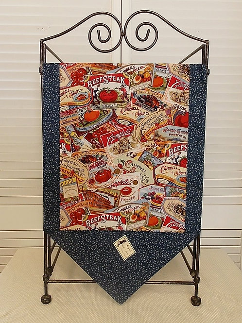 Blue Campbells Soup Table Runner