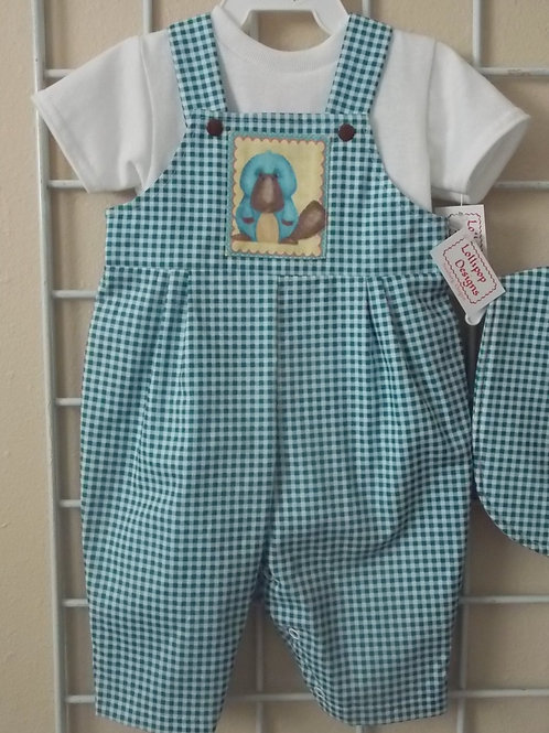 Blue Check Platypus Overall