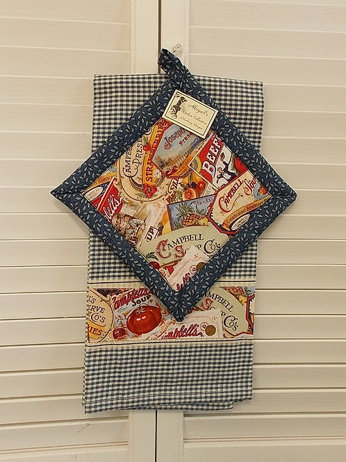 Blue Campbells Soup Towel Set