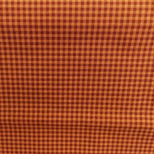 1 yard  Rusty Red check fabric