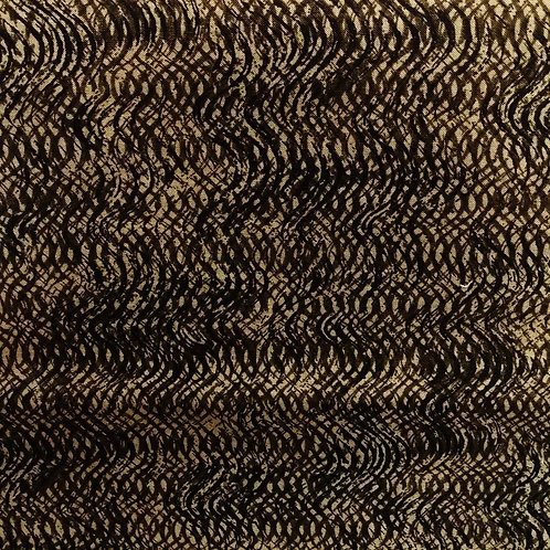 1 yard black and tan fabric