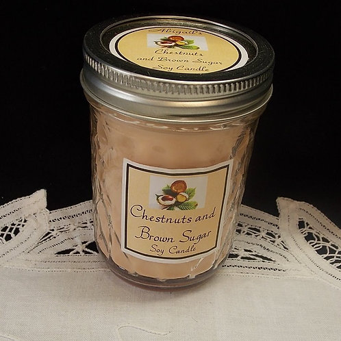 Chestnuts & Brown Sugar Large Jelly Jar Soy Candle