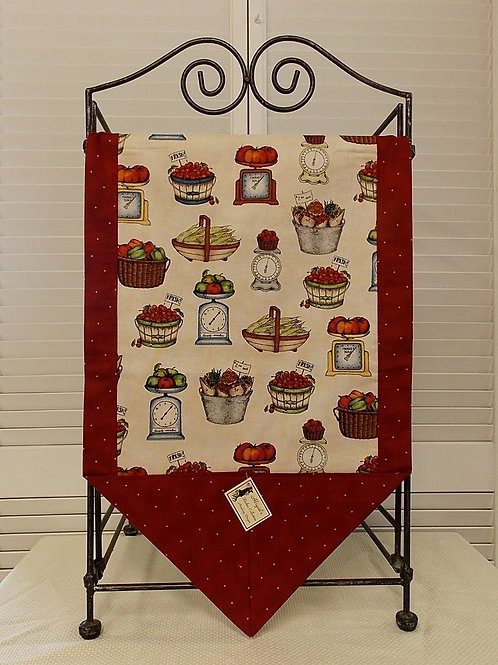 Red From the Farm Table Runner