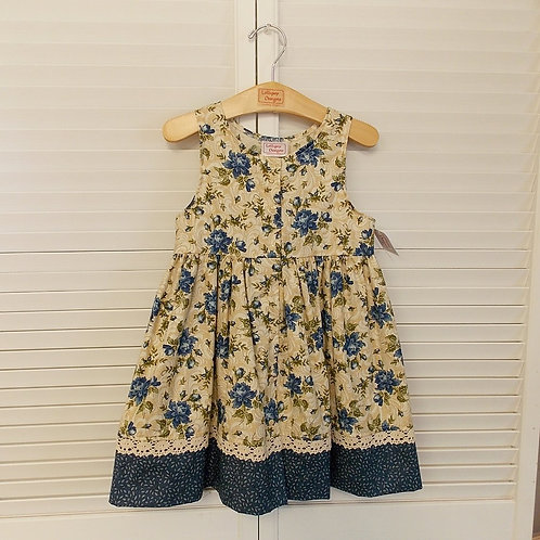 Antique Blue Floral Dress