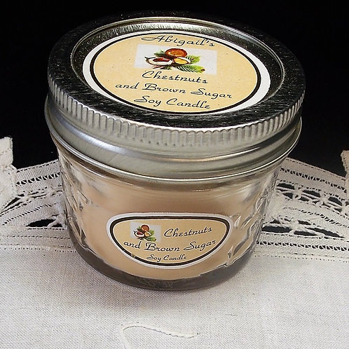 Chestnuts & Brown Sugar Small Jelly Jar Soy Candle