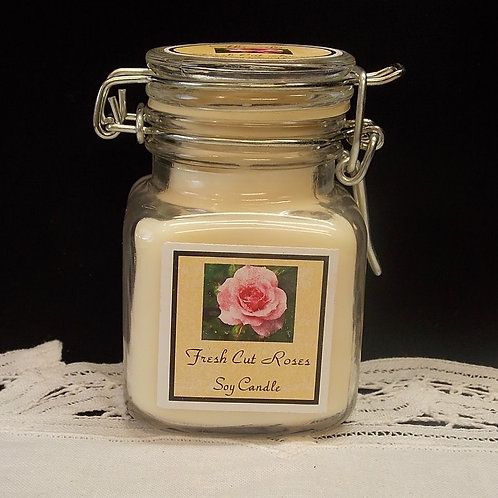 Fresh Cut  Roses Small Apothecary Soy Candle