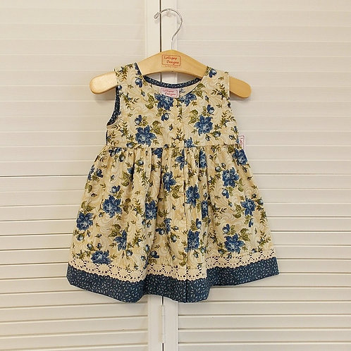 Antique Blue Floral Dress
