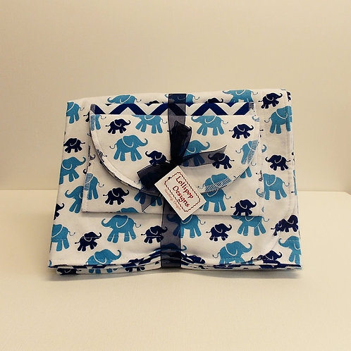 Blue Elephants Blanket Set