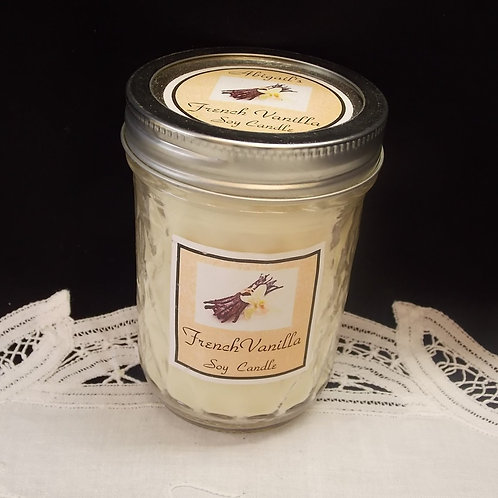 French Vanilla Large Jelly Jar Soy Candle