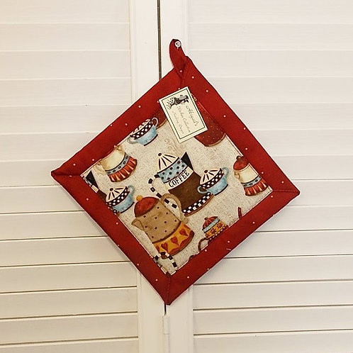 Red Coffee House Hot Pad