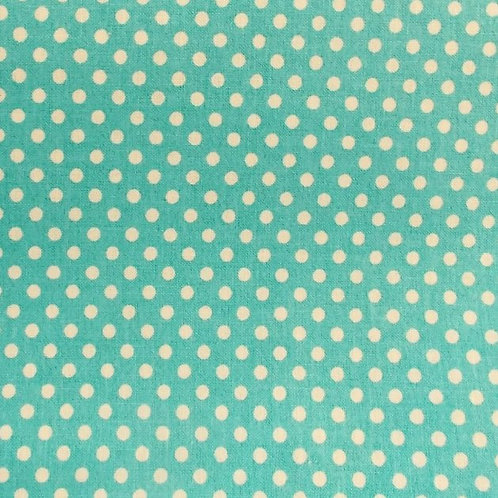 1 yard teal dot fabric