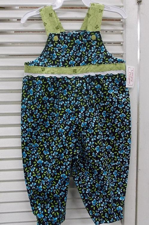 Blue Flower Overall