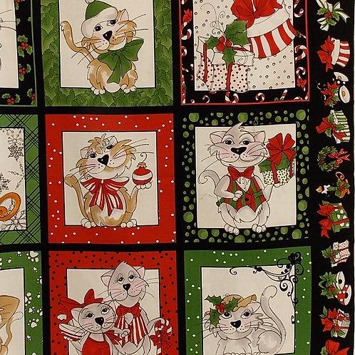 Christmas Cats panel