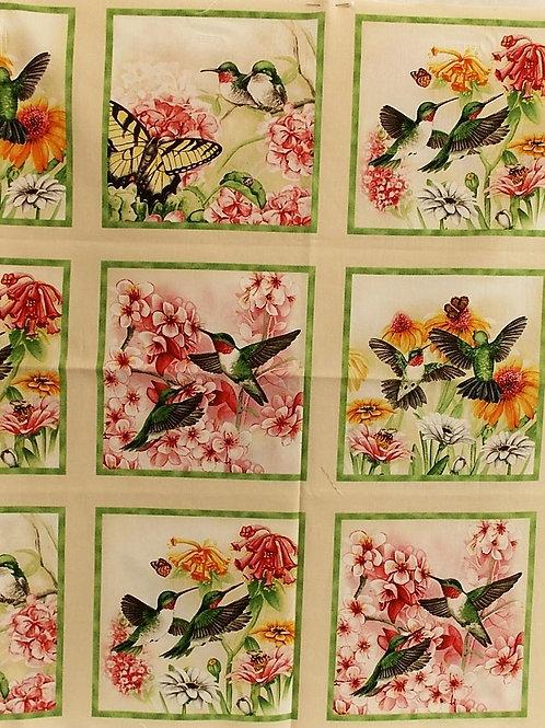Humming Birds panel