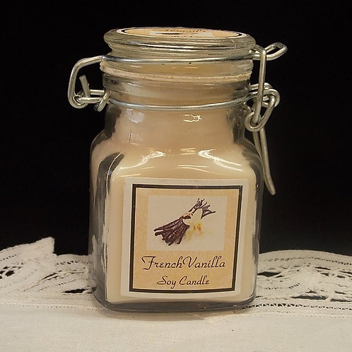 French Vanilla Small Apothecary Soy Candle