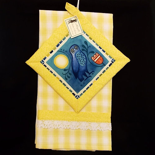 Yellow Owl Towel Set