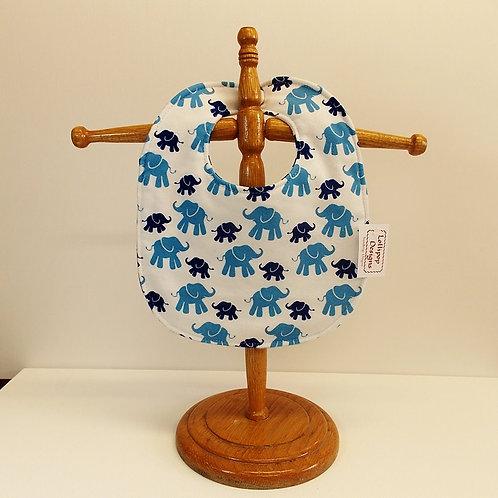 Blue Elephants Bib