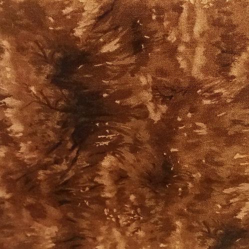 1 yard brown swirl fabric