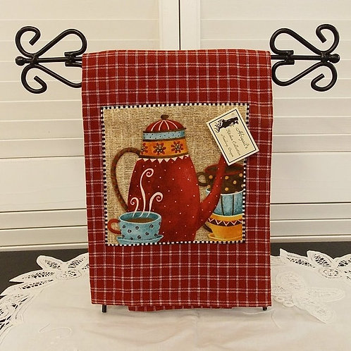 Red Coffee House Towel