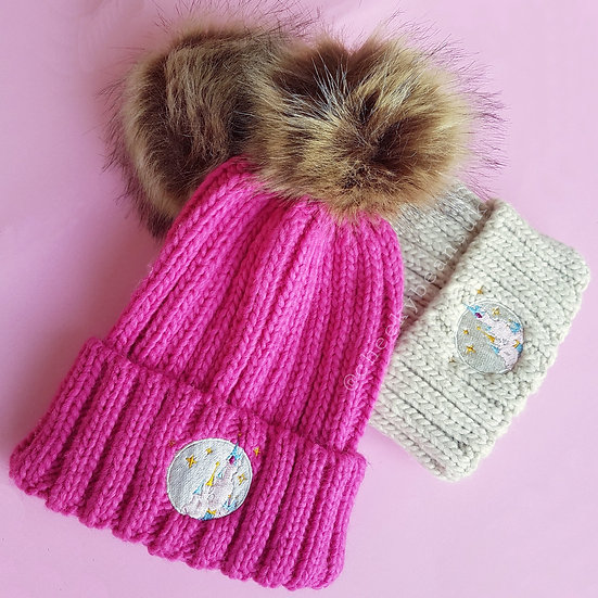 Castle Beanie Bobble Hat