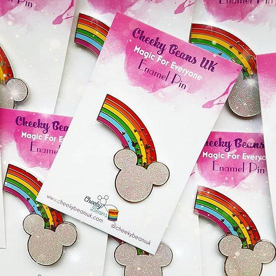 Magic For Everyone - Rainbow Mouse fantasy fan enamel pin badge