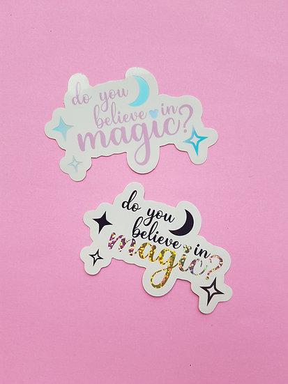 Magic Vinyl Sticker