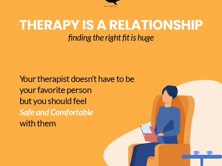Therapy is a relationship