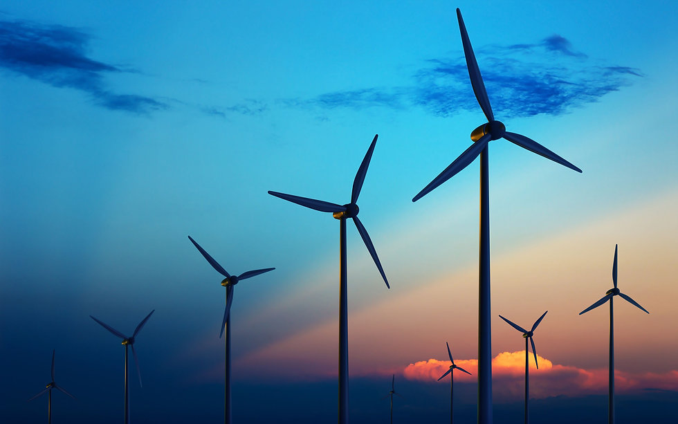 Beautiful Wind Turbines At Night HD Wall