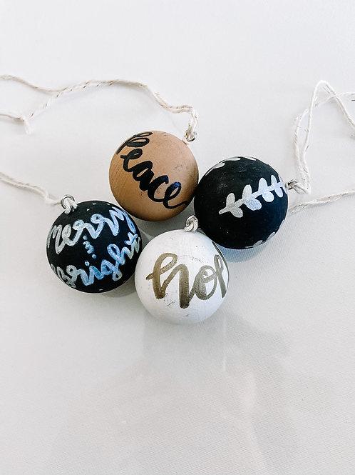 Wood Ball Ornament