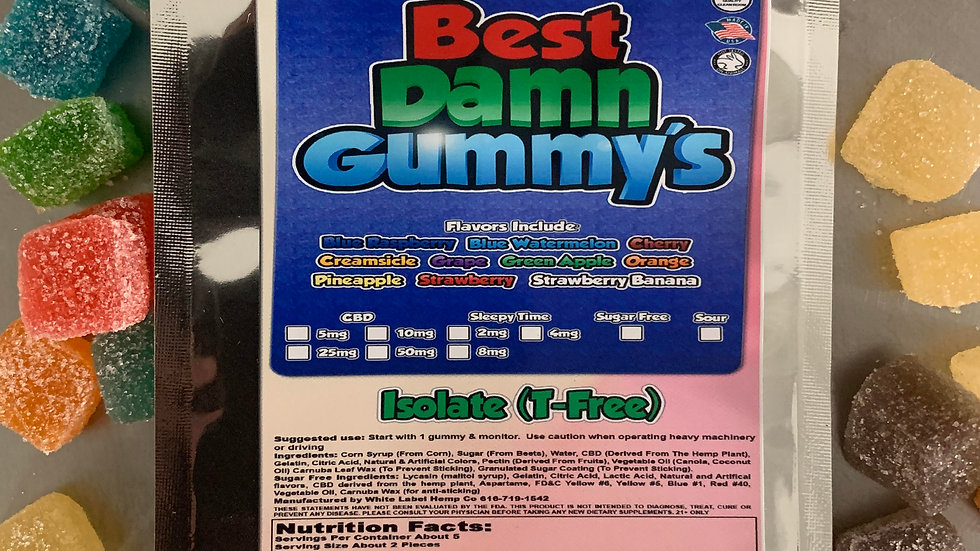 250 mg's Isolate Gummies