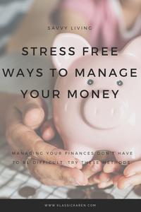 Klassic Karen talking about stress free ways to manage your money