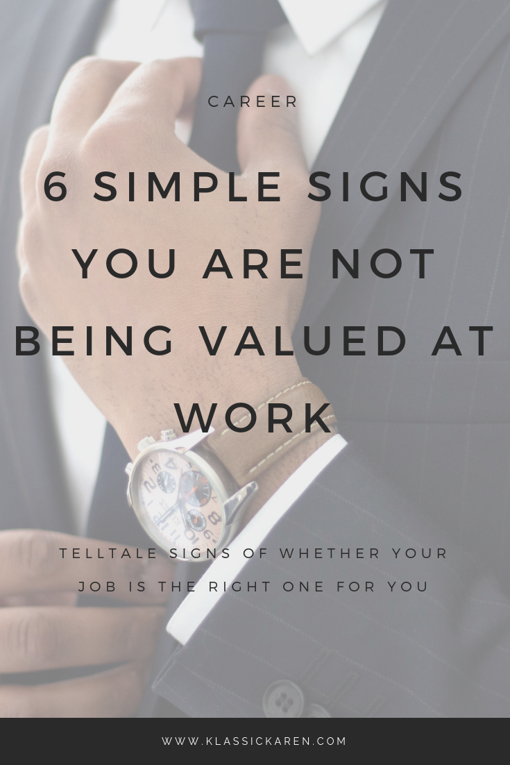 Klassic Karen on the simple signs you are not being valued at work