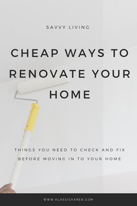 Klassic Karen writes about the cheap ways to renovate your home