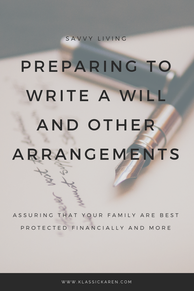 Klassic Karen on preparing a will and future arrangements