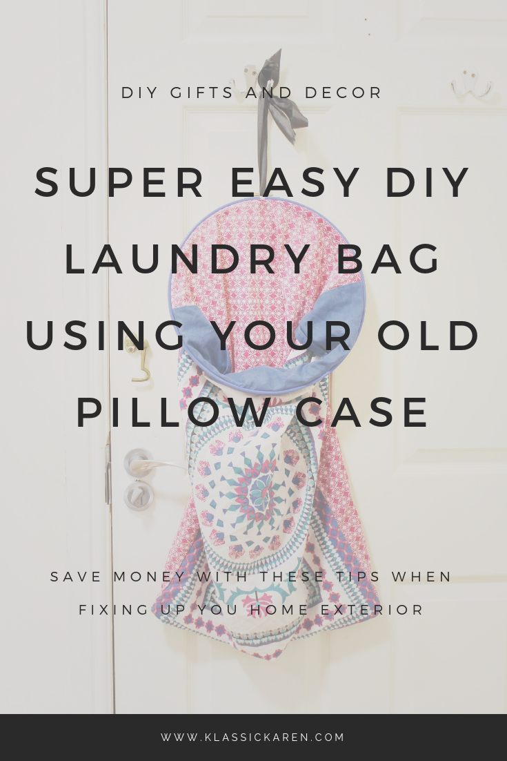 Klassic Karen DIY craft on creating a super easy laundry bag using old pillow cases