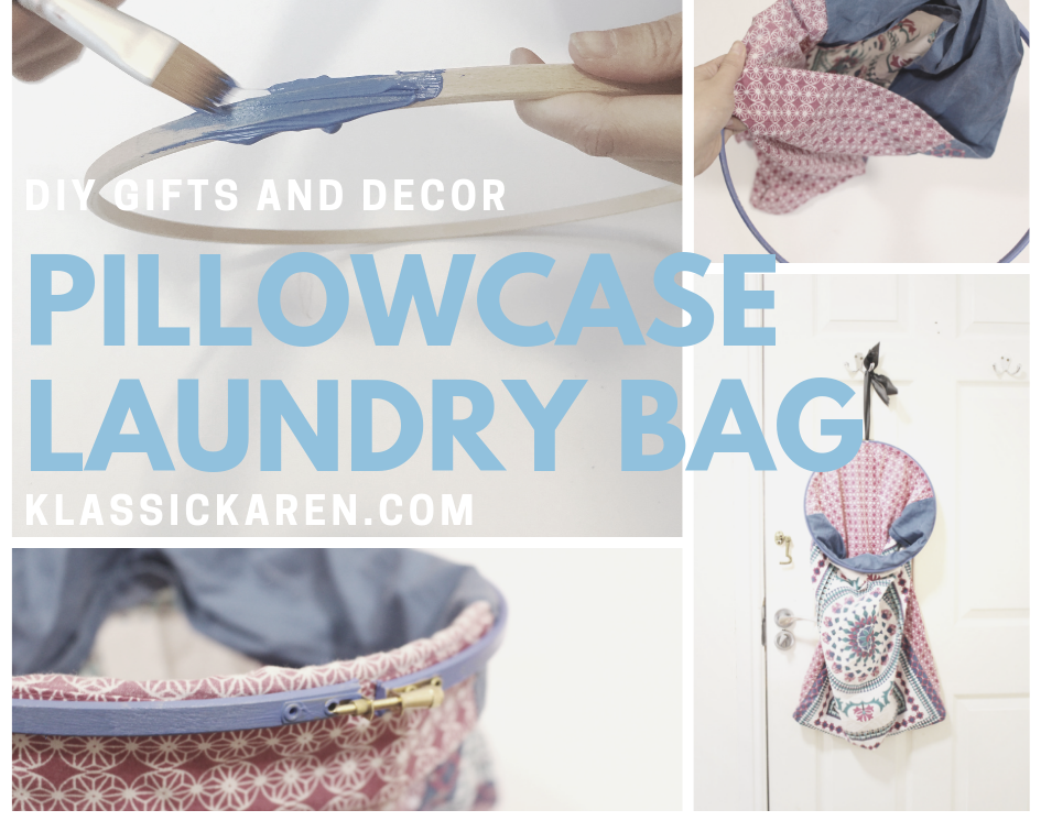 DIY Pillowcase laundry bag