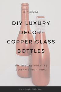 DIY Luxury Decor: Painting Glass Bottles With Acrylic Paint