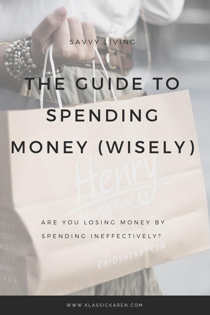 Klassic Karen Guide to spending money wisely