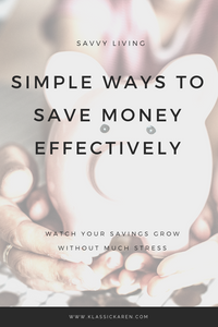 Klassic Karen on simple ways to save money effectively