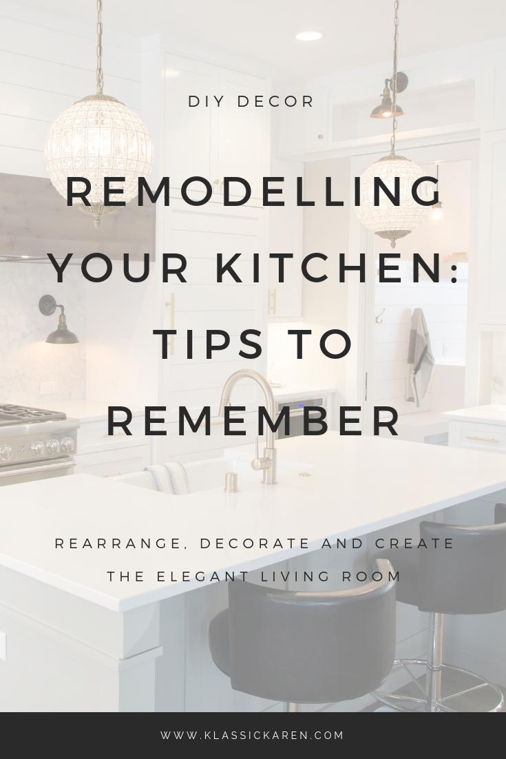 Klassic Karen on remodelling your kitchen
