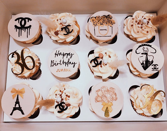 Chanel Theme Cupcakes