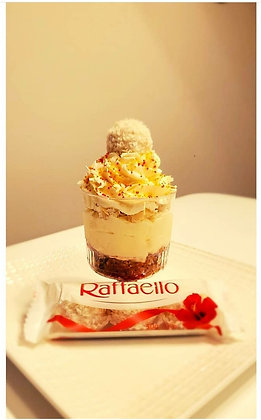 Raffaello coconut nobake cheesecake cups